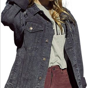 Jackets & Blazers - Black Oversized Jean Jacket NWT